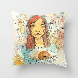 Symptoms Throw Pillow
