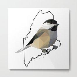 Maine – Black-Capped Chickadee Metal Print