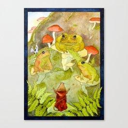 Toad Council Canvas Print