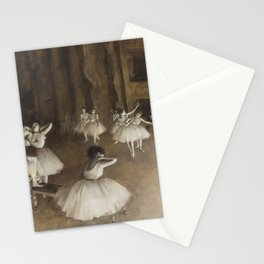 Ballet Rehearsal on Stage by Edgar Degas Stationery Cards