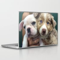 puppies Laptop & iPad Skins featuring Puppies by Camila Mariel