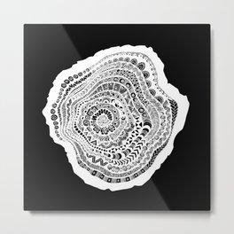 Inverted Tree of Tangles Metal Print