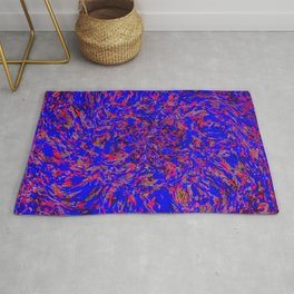 whirlwind blue and red Rug