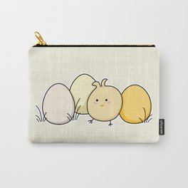 Cute Kawaii Easter Chick and Eggs Carry-All Pouch