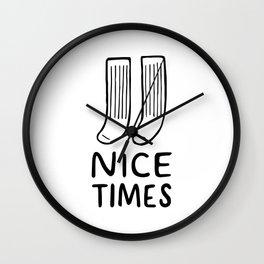 Nice Times Socks Wall Clock