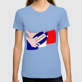 France Rugby Ball Flag T-shirt