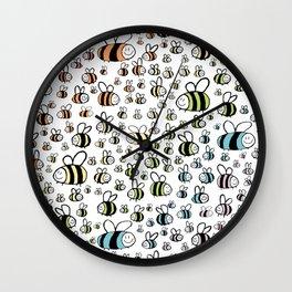 Rainbow bumble bee pride design Wall Clock