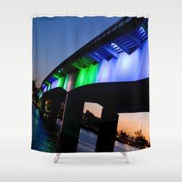 Light the bridge. Shower Curtain