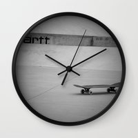 skate Wall Clocks featuring Skate  by 60infinito