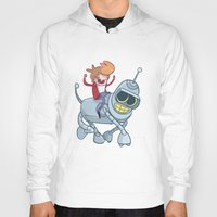 bender Hoodies featuring Adventurama/Fry and Bender by Spencer Duffy
