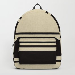Black and White Lines Backpack