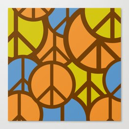 Cool Colorful Groovy Peace Symbols #society6 #decor #buyart #artprint Canvas Print