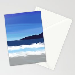 California Coast Abstract Seascape with Waves Stationery Cards
