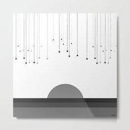 Falling Stars White Metal Print