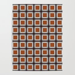 Brown Plaid Pattern Poster