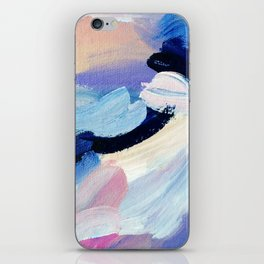Bibbity Bobbity Blue (Abstract Painting) iPhone Skin