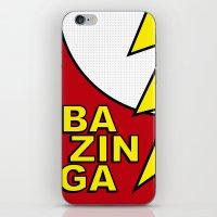 bazinga iPhone & iPod Skins featuring Bazinga by Bazingfy