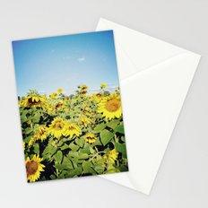 sunflower fields Stationery Cards
