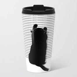 Cat Scratch Metal Travel Mug