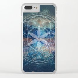 Sacred Geometry Universe X Clear iPhone Case
