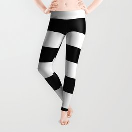 Abstract Black and White Stripe Lines 6 Leggings