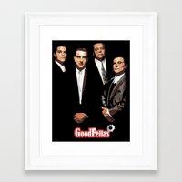 goodfellas Framed Art Prints featuring GOODFELLAS by Rocky Rock