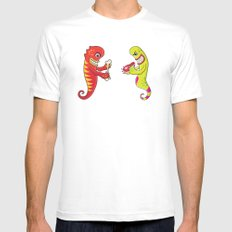 Flesh and Teeth's White Mens Fitted Tee SMALL