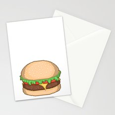 Cheeseburger Pixel Stationery Cards