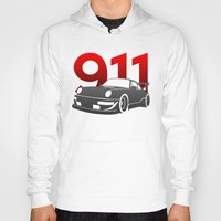 porsche Hoodies featuring Porsche 911 by Vehicle