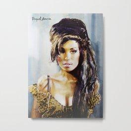 Winehouse Portrait 3 Metal Print