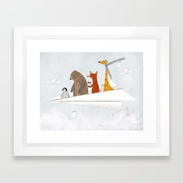 plane sailing Framed Art Print
