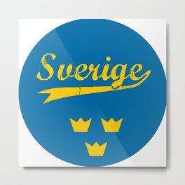 Sweden, Sverige, circle Metal Print