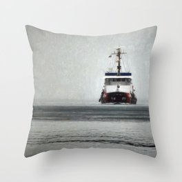 USCG Biscayne Bay in fog Throw Pillow