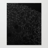constellation Canvas Prints featuring Constellation by fossilized