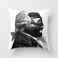 wrestling Throw Pillows featuring WRESTLING MASK 5 by DIVIDUS