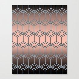 Brown pink geometric pattern Canvas Print