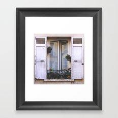 Paris Window Framed Art Print