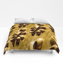 Parisian Gold Fluer De Lis Embossed Design Comforters
