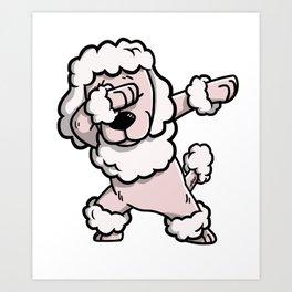 Dabbing Poodle Dog Dab Dance Art Print