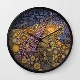 Deep Roots Abstract Wall Clock