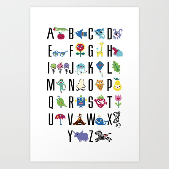 Alphabet Cute  Art Print