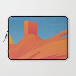 Desert Valley Landscape Scene Laptop Sleeve