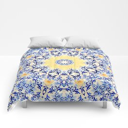 Deep States (Mandala) Comforters
