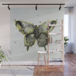 Yellow and Gray Butterfly Wall Mural