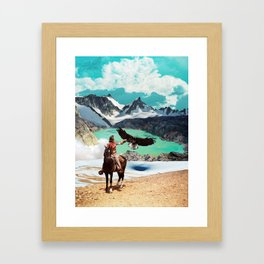 The eagle's journey Framed Art Print