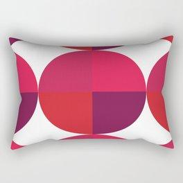 Red Circle Pattern II Rectangular Pillow