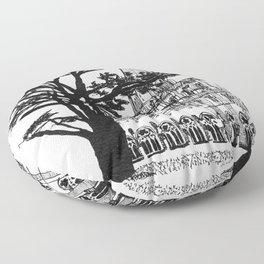 cloister shadow Floor Pillow