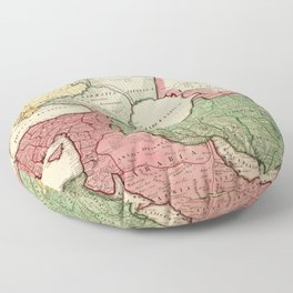 Map of the Middle East (1712) Floor Pillow