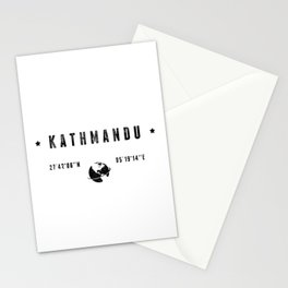 Kathmandu geographic coordinates Stationery Cards