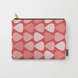 Plectrum Pattern in Pink and Red Carry-All Pouch